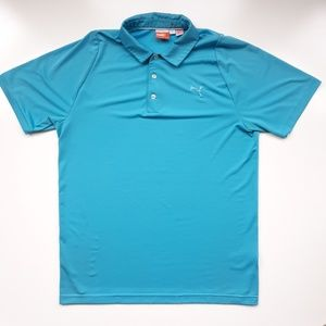 Puma Blue Golf Polo Shirt Mens M